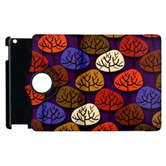 Colorful Trees Background Pattern Apple Ipad 3/4 Flip 360 Case by BangZart