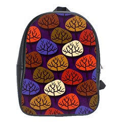 Colorful Trees Background Pattern School Bags (xl)  by BangZart
