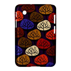 Colorful Trees Background Pattern Samsung Galaxy Tab 2 (7 ) P3100 Hardshell Case  by BangZart