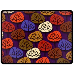 Colorful Trees Background Pattern Double Sided Fleece Blanket (large)