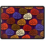 Colorful Trees Background Pattern Double Sided Fleece Blanket (Large)  80 x60  Blanket Front
