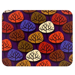 Colorful Trees Background Pattern Double Sided Flano Blanket (medium)  by BangZart