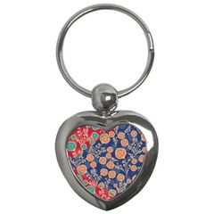 Floral Seamless Pattern Vector Texture Key Chains (heart)  by BangZart