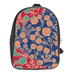 Floral Seamless Pattern Vector Texture School Bags(Large)  Front