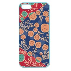 Floral Seamless Pattern Vector Texture Apple Seamless Iphone 5 Case (color) by BangZart