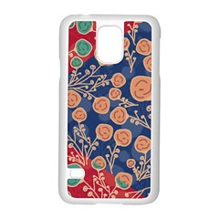 Floral Seamless Pattern Vector Texture Samsung Galaxy S5 Case (white)