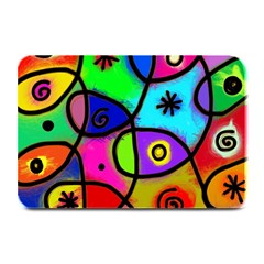 Digitally Painted Colourful Abstract Whimsical Shape Pattern Plate Mats by BangZart