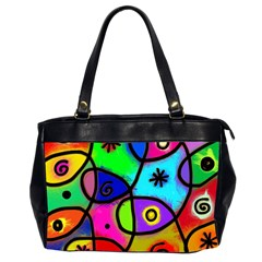 Digitally Painted Colourful Abstract Whimsical Shape Pattern Office Handbags (2 Sides)  by BangZart