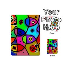 Digitally Painted Colourful Abstract Whimsical Shape Pattern Playing Cards 54 (mini)  by BangZart