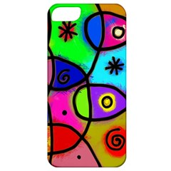 Digitally Painted Colourful Abstract Whimsical Shape Pattern Apple Iphone 5 Classic Hardshell Case by BangZart