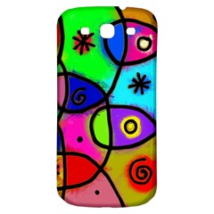 Digitally Painted Colourful Abstract Whimsical Shape Pattern Samsung Galaxy S3 S Iii Classic Hardshell Back Case