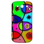 Digitally Painted Colourful Abstract Whimsical Shape Pattern Samsung Galaxy S3 S III Classic Hardshell Back Case Front