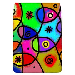 Digitally Painted Colourful Abstract Whimsical Shape Pattern Flap Covers (l)  by BangZart