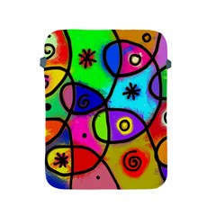 Digitally Painted Colourful Abstract Whimsical Shape Pattern Apple Ipad 2/3/4 Protective Soft Cases by BangZart