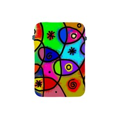Digitally Painted Colourful Abstract Whimsical Shape Pattern Apple Ipad Mini Protective Soft Cases by BangZart