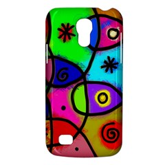 Digitally Painted Colourful Abstract Whimsical Shape Pattern Galaxy S4 Mini by BangZart