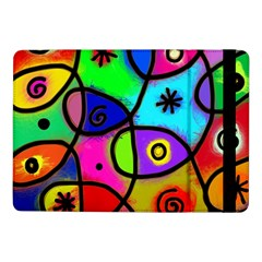 Digitally Painted Colourful Abstract Whimsical Shape Pattern Samsung Galaxy Tab Pro 10 1  Flip Case by BangZart