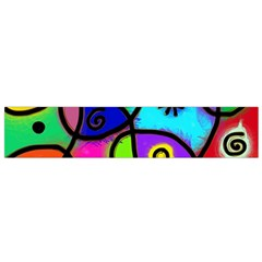 Digitally Painted Colourful Abstract Whimsical Shape Pattern Flano Scarf (small) by BangZart