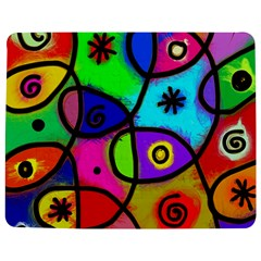 Digitally Painted Colourful Abstract Whimsical Shape Pattern Jigsaw Puzzle Photo Stand (rectangular) by BangZart