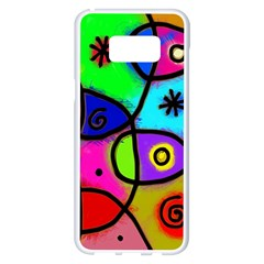 Digitally Painted Colourful Abstract Whimsical Shape Pattern Samsung Galaxy S8 Plus White Seamless Case by BangZart
