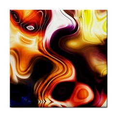 Colourful Abstract Background Design Tile Coasters by BangZart