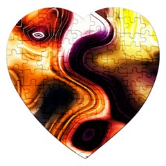 Colourful Abstract Background Design Jigsaw Puzzle (heart) by BangZart