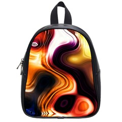Colourful Abstract Background Design School Bags (small)  by BangZart
