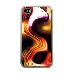 Colourful Abstract Background Design Apple Iphone 4 Case (clear) by BangZart