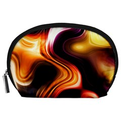 Colourful Abstract Background Design Accessory Pouches (large)  by BangZart