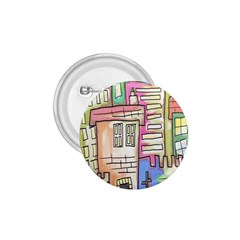 A Village Drawn In A Doodle Style 1 75  Buttons by BangZart