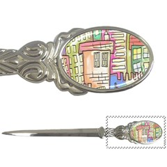 A Village Drawn In A Doodle Style Letter Openers by BangZart
