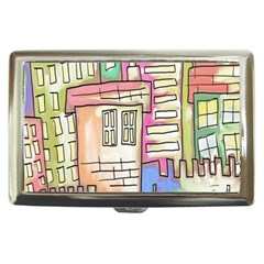 A Village Drawn In A Doodle Style Cigarette Money Cases by BangZart