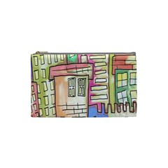 A Village Drawn In A Doodle Style Cosmetic Bag (small)  by BangZart