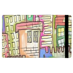 A Village Drawn In A Doodle Style Apple Ipad 2 Flip Case by BangZart