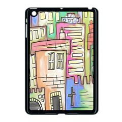 A Village Drawn In A Doodle Style Apple Ipad Mini Case (black) by BangZart