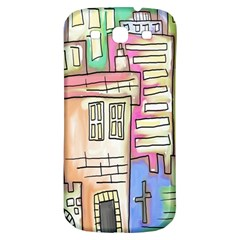 A Village Drawn In A Doodle Style Samsung Galaxy S3 S Iii Classic Hardshell Back Case by BangZart