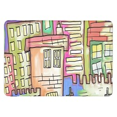 A Village Drawn In A Doodle Style Samsung Galaxy Tab 8 9  P7300 Flip Case by BangZart