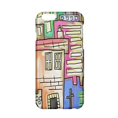 A Village Drawn In A Doodle Style Apple Iphone 6/6s Hardshell Case by BangZart