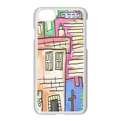 A Village Drawn In A Doodle Style Apple Iphone 7 Seamless Case (white) by BangZart