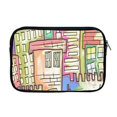 A Village Drawn In A Doodle Style Apple Macbook Pro 17  Zipper Case by BangZart