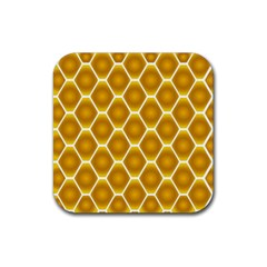 Snake Abstract Pattern Rubber Coaster (square)  by BangZart