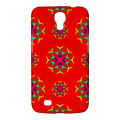 Rainbow Colors Geometric Circles Seamless Pattern On Red Background Samsung Galaxy Mega 6 3  I9200 Hardshell Case by BangZart