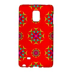 Rainbow Colors Geometric Circles Seamless Pattern On Red Background Galaxy Note Edge