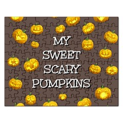 Hallowen My Sweet Scary Pumkins Rectangular Jigsaw Puzzl