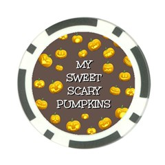 Hallowen My Sweet Scary Pumkins Poker Chip Card Guard by BangZart