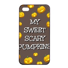 Hallowen My Sweet Scary Pumkins Apple Iphone 4/4s Seamless Case (black) by BangZart