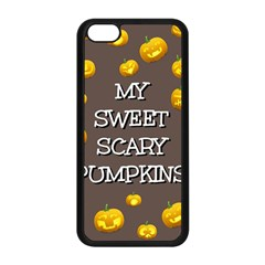 Hallowen My Sweet Scary Pumkins Apple Iphone 5c Seamless Case (black) by BangZart