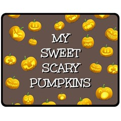 Hallowen My Sweet Scary Pumkins Double Sided Fleece Blanket (medium)  by BangZart