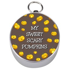 Hallowen My Sweet Scary Pumkins Silver Compasses by BangZart