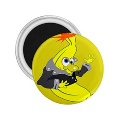 Funny Cartoon Punk Banana Illustration 2 25  Magnets by BangZart